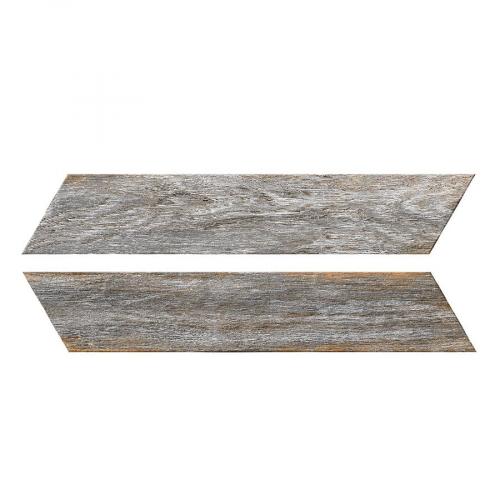 Chevron imitation bois gris 8x40 cm BORA CHV GREY espiga droite et gauche - 0.96 m² Oset