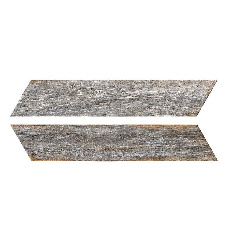 Chevron imitation bois gris 8x40 cm BORA CHV GREY espiga droite et gauche - 0.96 m² - zoom