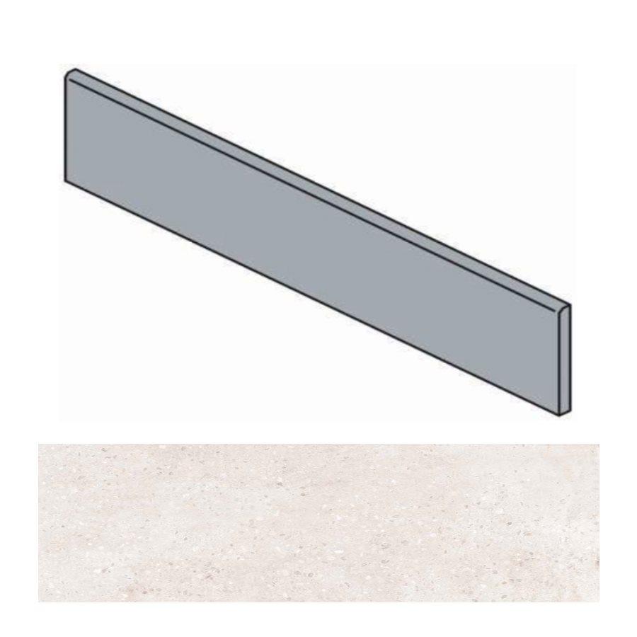 Plinthe ivoire effet ciment 9.4x60 cm TORTONA BONE - 10.20mL - zoom