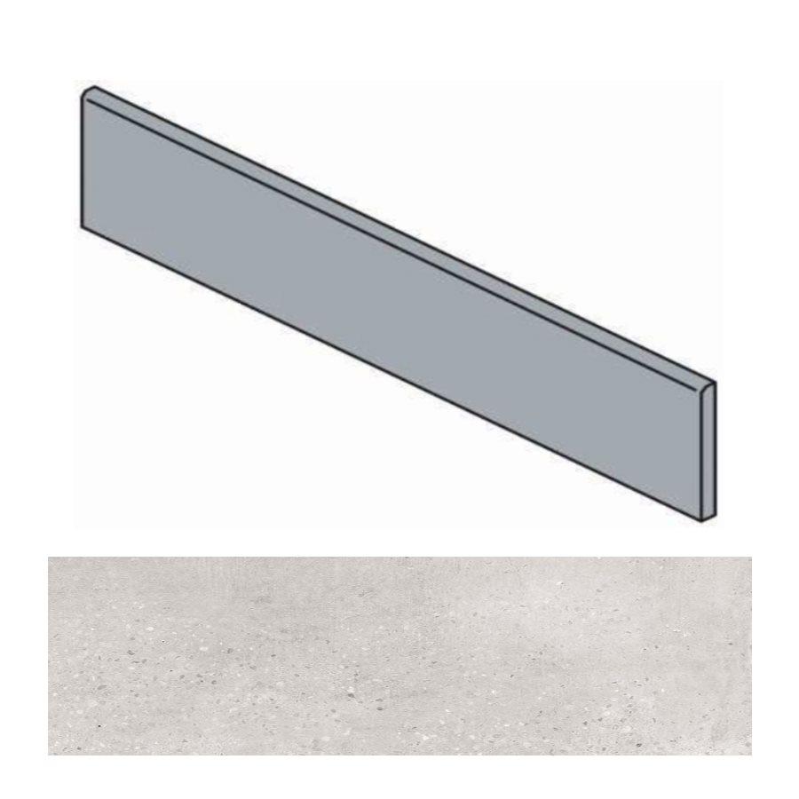 Plinthe grise effet ciment 9.4x60 cm TORTONA GRIS - 10.2mL - zoom