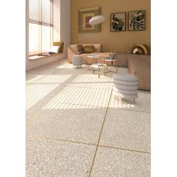 Carrelage imitation granito terrazzo 80x80 cm PORTOFINO Crema - 1.28m² Vives Azulejos y Gres