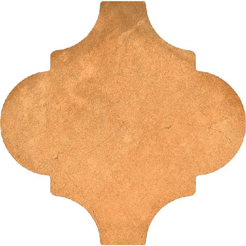 Carrelage provençal 20x20cm décor terre cuite BUXTON Natural - 0.63m² - zoom