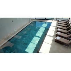 Carrelage piscine effet pierre naturelle grès cérame QUARTZ GOLD 15.25x15.25 cm - 0.699m² Coem ceramiche