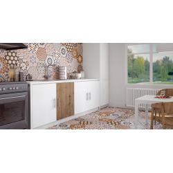 Carrelage tomette décorée style ciment 33x28.5 ANDALUSI MIX - 1m² Realonda