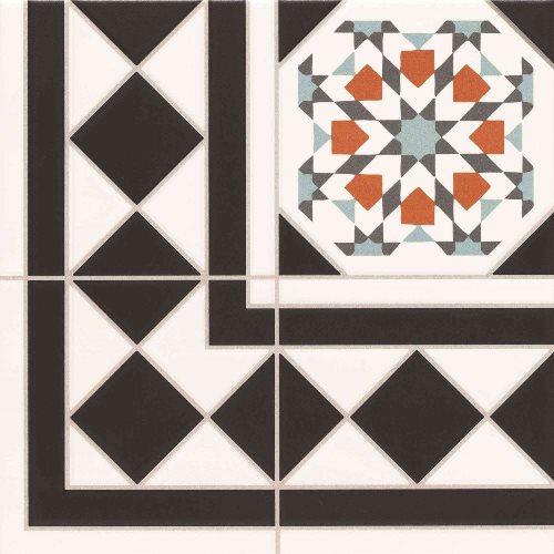 Carrelage 33.3x33.3 cm OXFORD DECO ESQUINA Angle - unité - zoom