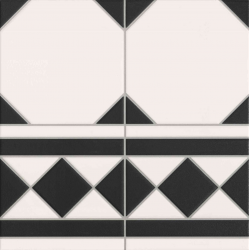 Carrelage à cabochon 33x33 cm OXFORD NEGRO CENEFA bord droit - 1m² Realonda