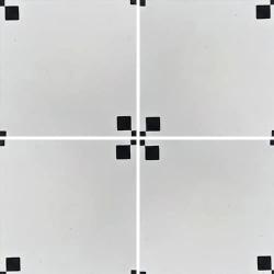 Carreau de ciment géométrique blanc et noir TIPIX 20x20 cm ref:160-1 - 0.48m² Carreaux ciment véritables