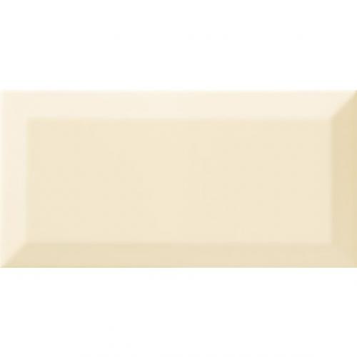 Carrelage Métro biseauté beige brillant 10x20 cm - 1m² Ribesalbes
