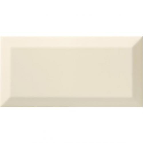 Carrelage Métro biseauté bone beige brillant 10x20 cm - 1m² Ribesalbes