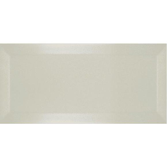 Carrelage Métro biseauté ivoire brillant 10x20 cm - 1m² - zoom
