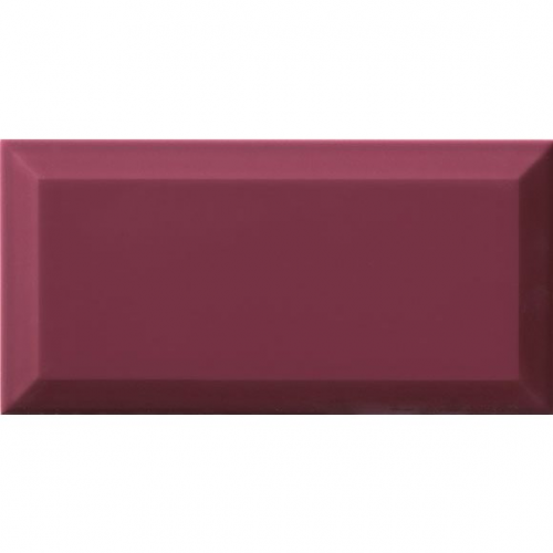 Carrelage Métro biseauté Malva amarante brillant 10x20 cm - 1m² Ribesalbes