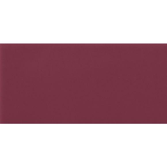 Carrelage Métro plat 10x20 cm amarante brillant FLAT MALVA BRILLO - 1m² - zoom