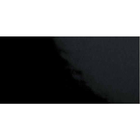 Carrelage Métro plat 10x20 cm noir brillant FLAT NEGRO BRILLO - 1m² - zoom