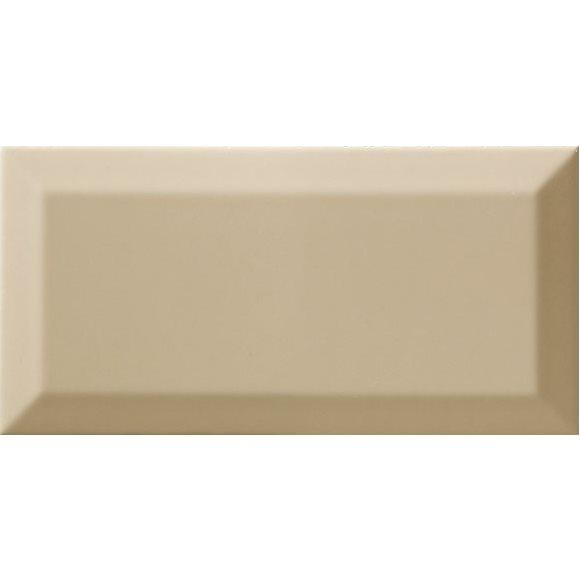 Carrelage Métro biseauté olive brillant 10x20 cm - 1m² - zoom