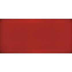 Carrelage Métro biseauté Rojo rouge brillant 10x20 cm - 1m² Ribesalbes