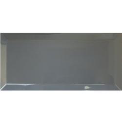 Carrelage métro biseauté 10x30 cm gris foncé avon - 1.02m² Ribesalbes