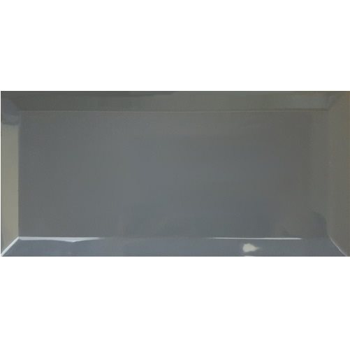 Carrelage métro biseauté 10x30 cm gris foncé avon - 1.02m² - zoom