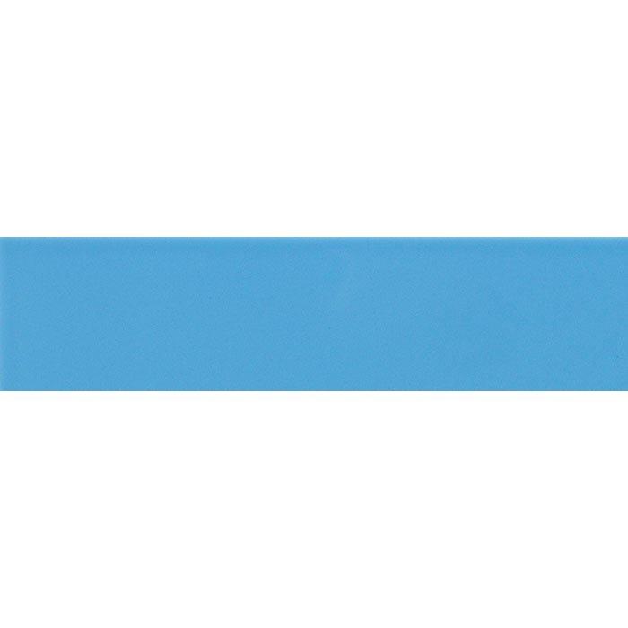 Carreau métro plat bleu azur brillant 10x30 cm - boite de 1.02m² - zoom