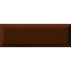 Carrelage Métro biseauté 10x30 cm cacao marron brillant - 1.02m² Ribesalbes