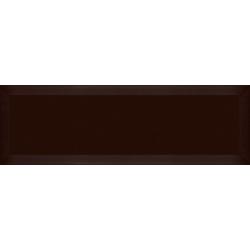 Carrelage Métro biseauté marron 10x30 cm Cacao Mat - 1.02m² Ribesalbes