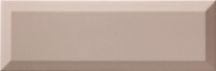 Carrelage métro biseauté 10x30 cm Limestone brillant - 1.02m² - zoom