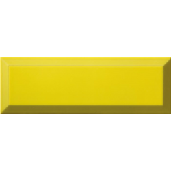 Carrelage Métro biseauté 10x30 cm limon jaune brillant - 1.02m² Ribesalbes