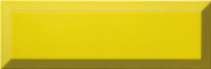 Carrelage Métro biseauté 10x30 cm limon jaune brillant - 1.02m² - zoom