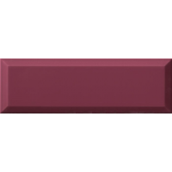 Carrelage métro biseauté mauve 10x30 cm Malva brillant - 1.02m² Ribesalbes