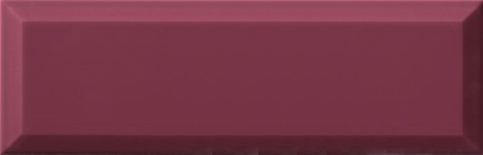 Carrelage métro biseauté mauve 10x30 cm Malva brillant - 1.02m² - zoom
