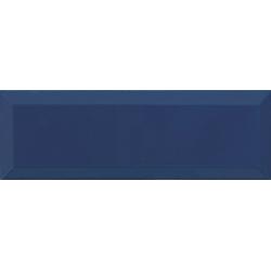 Carrelage Métro biseauté 10x30 cm marino bleu marine brillant - 1.02m² Ribesalbes