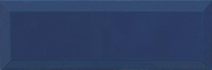 Carrelage Métro biseauté 10x30 cm marino bleu marine brillant - 1.02m² - zoom