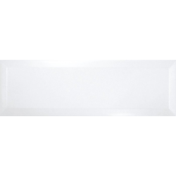 Carrelage Métro biseauté 10x30 cm blanc brillant - 1.02m² Ribesalbes