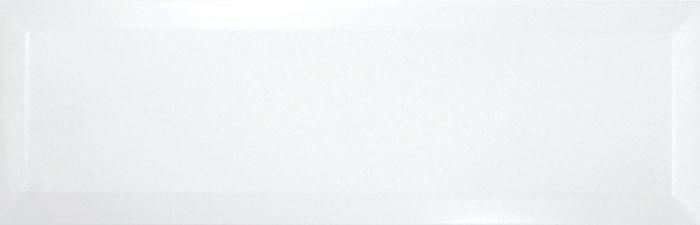 Carrelage Métro biseauté 10x30 cm blanc brillant - 1.02m² - zoom