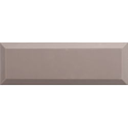 Carrelage Métro biseauté 10x30 cm moka sépia brillant - 1.02m² Ribesalbes
