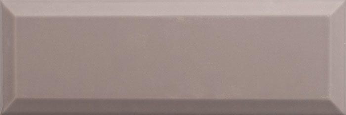 Carrelage Métro biseauté 10x30 cm moka sépia brillant - 1.02m² - zoom