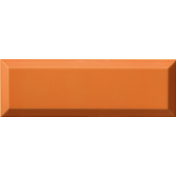 Carrelage Métro biseauté 10x30 cm naranja orange brillant - 1.02m² Ribesalbes