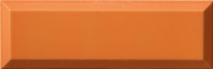 Carrelage Métro biseauté 10x30 cm naranja orange brillant - 1.02m² - zoom