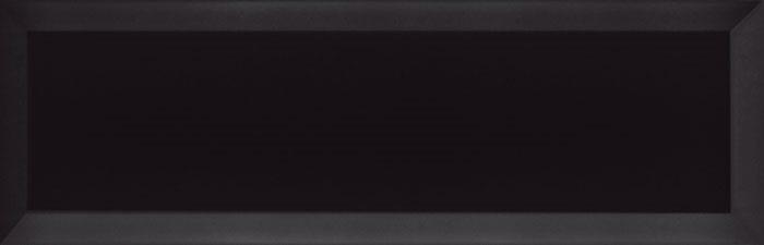Carrelage Métro biseauté 10x30 cm noir brillant - 1.02m² - zoom