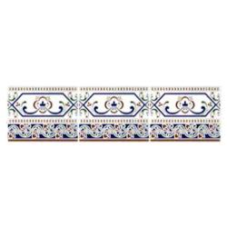 Azulejo Sevillano Frise Cenefa Cadiz 15x20 cm - 0.9m² Ribesalbes