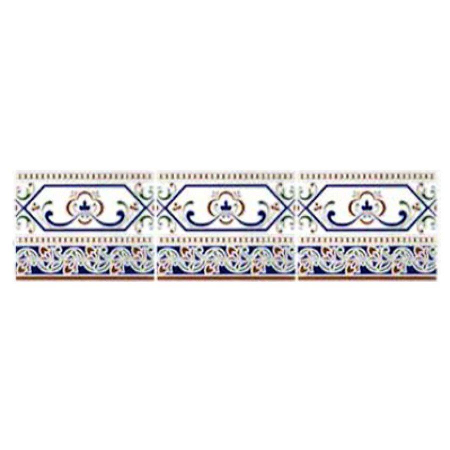 Azulejo Sevillano Frise Cenefa Cadiz 15x20 cm - 0.9m² - zoom