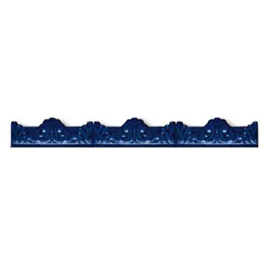 Azulejo Sevillano Moulure Baroque Bleu 5x20 - 29 unités - zoom