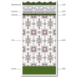 Azulejo Sevillano Moulure Baroque Verte 5x20 - 29 unités Ribesalbes