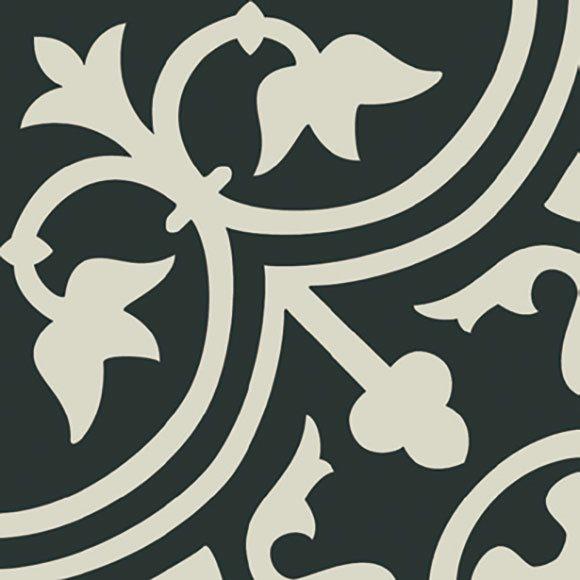 Carrelage imitation ciment décor blanc 20x20 cm PASION BLANCO - 1m² - zoom