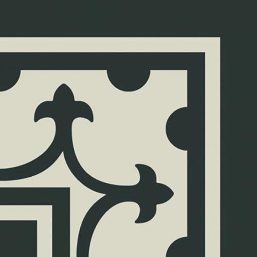 Carrelage imitation ciment coin décor noir 20x20 cm PASION ESQUINA NEGRO - unité Ribesalbes