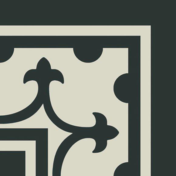 Carrelage imitation ciment coin décor noir 20x20 cm PASION ESQUINA NEGRO - unité - zoom
