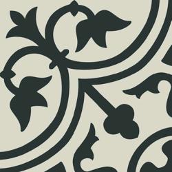 Carrelage imitation ciment décor noir 20x20 cm PASION NEGRO - 1m² Ribesalbes