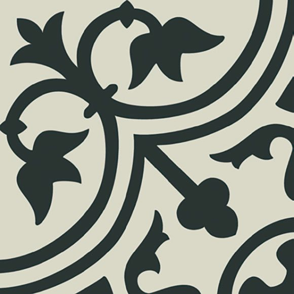 Carrelage imitation ciment décor noir 20x20 cm PASION NEGRO - 1m² - zoom