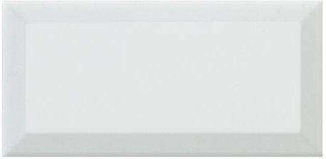 Carreau métro Blanc brillant 7,5x15 cm - 1 m² - zoom