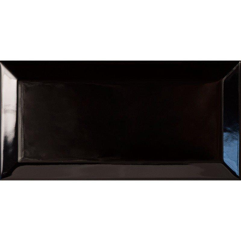 Carreau métro Noir brillant 7.5x15 - 1m² - zoom