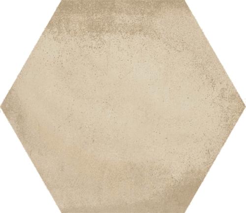 Carrelage hexagonal tomette décor crème 23x26.6cm BAMPTON BEIGE - 0.50m² - zoom